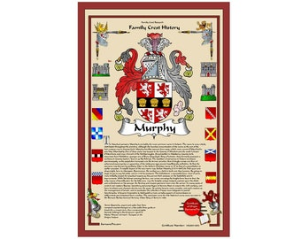 SurnamePro family crest history custom coat of arms design including family motto and translation with history of surname, meaning, origin.