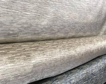 White Strei Upholstery Fabric