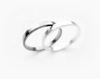 Othello Ring Set - Promise Rings for Couples, Couple Ring Set, Matching Promise Rings, Wedding Band Set, Couples Rings, Promise Ring Set