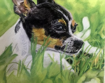 Limited edition giclee print of Pastel Painting 9x12 inches of a Chihuahua