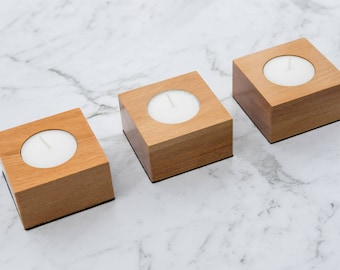 Rimu Tea Light Holder Set / Wood Candle Holder / Candle holder set / Tealight candle / Wooden candle holder