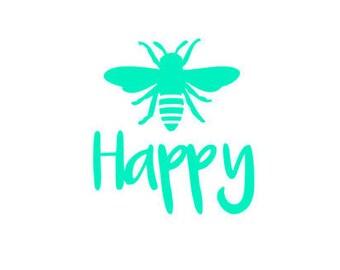 Bee Happy laptop Decal