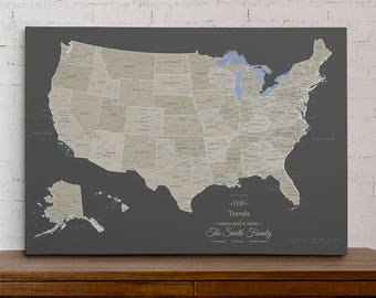 Personalized travel pin maps to track lifes by pushpintravelmaps gallery gumiabroncs Choice Image