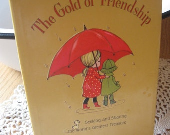 The Gold of Friendship Another Adorable Vintage 1967 Hallmark Little Book