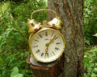 Vintage Alarm Clock / Alarm Clock Prim / Czechoslovakian Mechanical Clock / Twin Bell Alarm Clock / Mid Century Clock / Mechanical Clock.