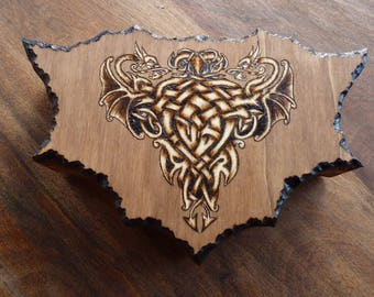 Available: box asymmetrical Celtic dragon fragmented