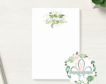PERSONALIZED NOTE PAD 5x7 Leafy