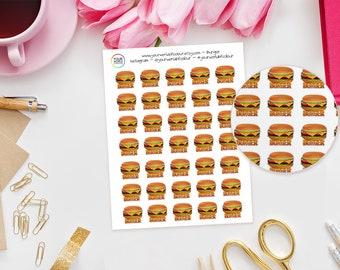 Burger Planner Stickers perfect for Erin Condren Life Planner, Kikki K, Happy Planner,Filofax Planner / Takeaway/ Burgers