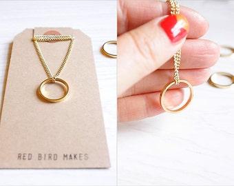 Minimalist Geometric Circle Necklace