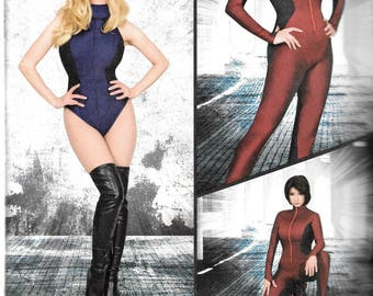 Simplicity Dale Wibben Costume Pattern 8286 COSPLAY Knit & Woven JUMPSUIT and LEOTARD  Misses Sizes 6 8 10 12 14