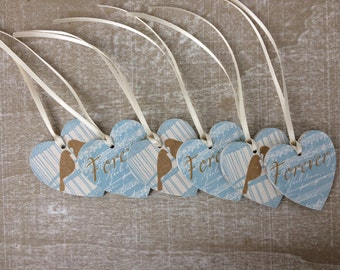 Shabby Chic Hearts (pack of 6)