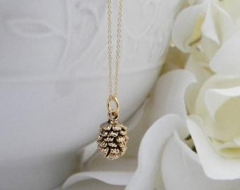 Pine Cone Necklace. Bridesmaid Gift. Bridesmaid Jewelry. Dainty Pinecone Necklace. Gold Jewelry. Mothers Day Gift . Black Friday Special