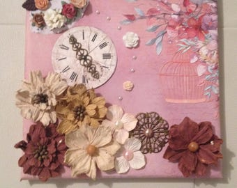 Canvas 20 cm X 20 cm handmade