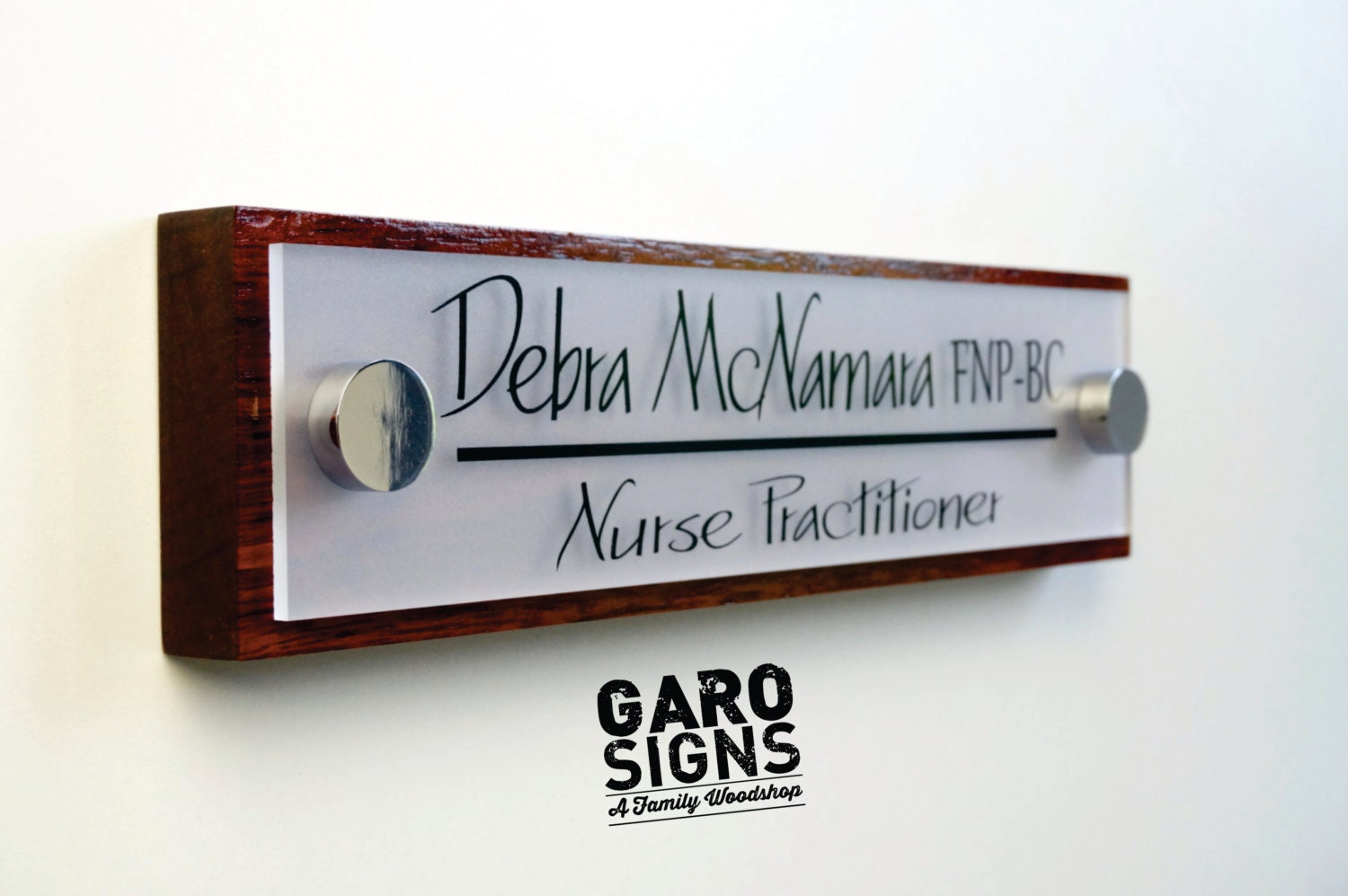 & Office Door Sign: Professional Personalized Wood Sign Gift 10 x 2.5