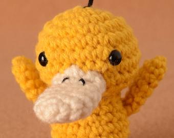 Mini Psyduck Pokemon Crochet Toy Doll