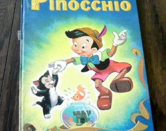 Walt Disney's PINOCCHIO,1953 Disney Library,  Hard cover , unpaginated, Illustrated by Disney studios, kids books, collector books,