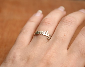 Name Ring -Sterling Silver - Personalized Ring