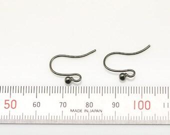 20pcs - brass hook plated black