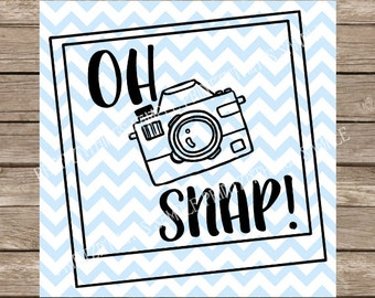 Oh Snap SVG Oh Snap Camera svg dxf png cutting file for cricut and silhouette