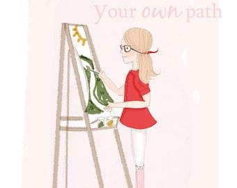 Wall Art Print - Inspirational Art  - Paint Your Own Path -