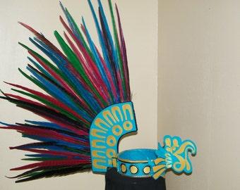 Large Aztec Headdress Thunderbird Motif
