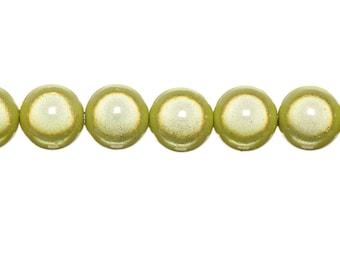 10 x magic round 6mm - yellow beads