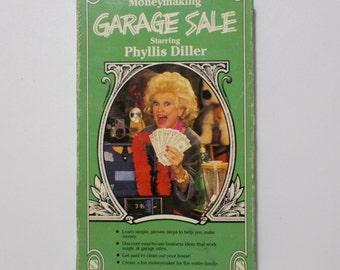 Phyllis Diller Moneymaking Garage Sale VHS Tape Vintage Comedian Kitschy 80's