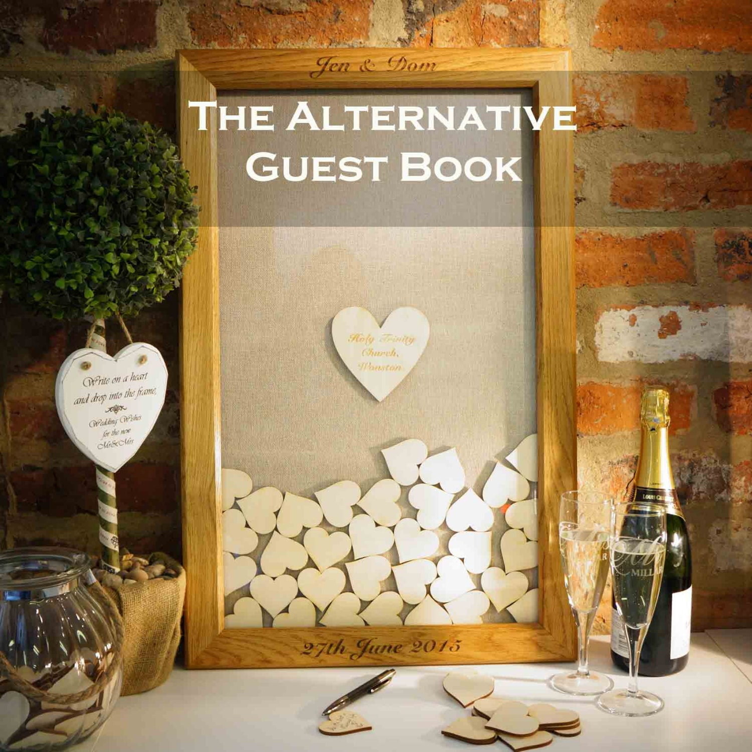 Wedding Guest Book Alternative Wedding Guest Book Heart