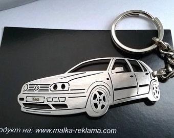 Volkswagen Golf III Keychain, VW keychain, fathers day gift, men custom VW Keychain, Personalized Keyring, Custom Keyring, birthday gift
