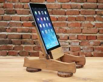 Wooden iPad / Tablet stand iPad Holder iPad Dock