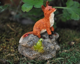 Red Fox with Frog