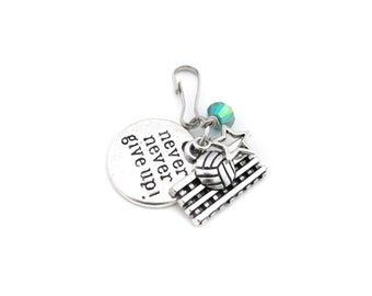Volleyball Gifts, Volleyball Zipper Pull, Volleyball Bag Charm, Volleyball Player Gift, Volleyball Zipper Charm, Volleyball Team Gift