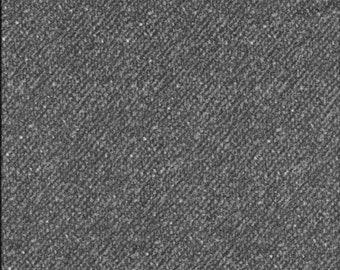 Maywood Woolies Charcoal Gray Grey Nubby Tweed FLANNEL Fabric MASF-18507-K BTY