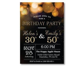Joint birthday etsy adult joint birthday invitation joint birthday party invitation combined party co birthday filmwisefo Choice Image
