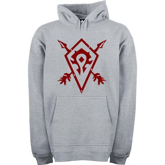 World of Warcraft black hoodie with drawstrings, Horde or Alliance Available sizes S, M, L, XL, XXL, XXXL