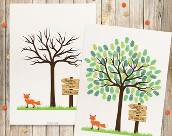 Tree prints for baptism, birthday - kids