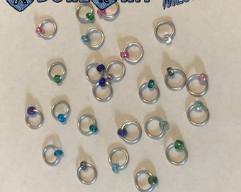 Design YOUR OWN Ring Stitch Markers, ring markers, notions, Frosty Stitch markers, knitting, gift, bracelet, necklace,stitchmarkers