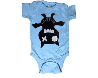 Keep Austin Weird! Baby Bodysuit - We Love Texas! - Light Blue Infant Bodysuit