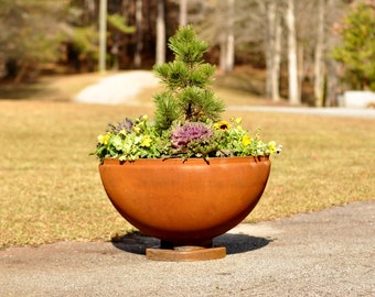 Fire Pit 30 inch Planter, FirePit, Fire Pits, FirePits, Garden Planter, Steel Fire Pit, Metal Fire Pit, Fire Bowl, Outdoor Fire Pit