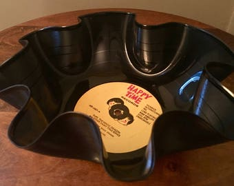 Happy Time - vinyl record bowl - Puff the Magic Dragon & Other Fairy Tales