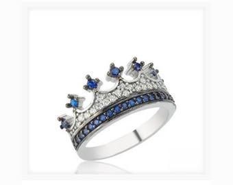 crown ring,silver crown ring,queen ring,king ring,crown ring set,tiara rings,princess rings,handmade,silver crown ring,queen ring,propasal