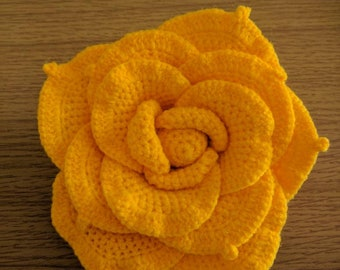 Crochet rose, Crochet flower with Tassle