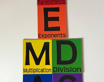 PEMDAS - Order of Operations - Magnet Set! Great for the Math Classroom!