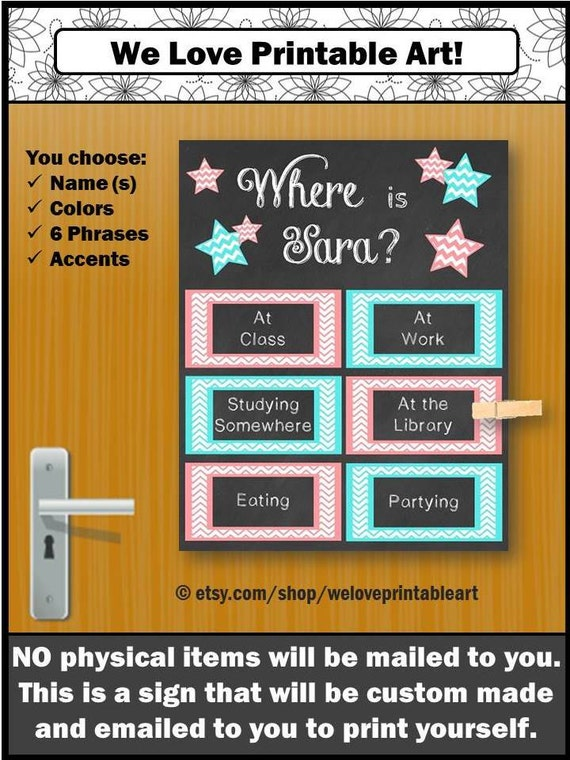 CUSTOM Dorm Door Sign, College Dorm Decorations, Dorm Decor, Dorm Wall Art,  College Dorm Girl, Dorm Room Decor, Dorm Door Decor, Dorm Art