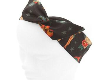 Pin-up scarf tattoo old school Black