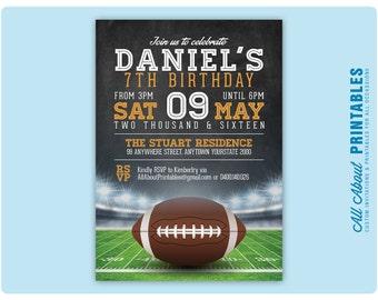 Diy digital invites etsy football birthday invitation boy or girl football theme birthday party invite any colour filmwisefo