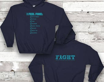 POTS Symptoms Twosided Awareness Hoodie