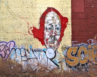 Brooklyn Street Art, Carrot Top, 5x7 Matted Photograph