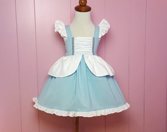 Cinderella Inspired Girls Toddler Disney Everyday Princess Dress, Sizes 12 months to 12 Girls