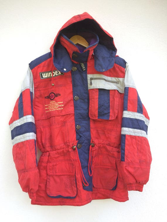 Sportwear Gear Jacket Vintage Winter 90s jacket Ski Ski jacket Jacket Bomber WINDEX Snow Outdoor jacket Retro Size Suit Medium qfrpW1qU
